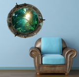 Full Colour 2D Forest Porthole Wall Sticker WSD584