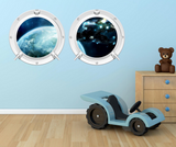 Full Colour 2D Space Porthole Wall Sticker WSD62