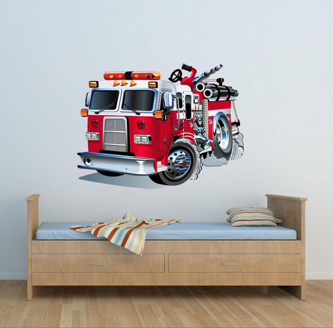 2D Fire Engine Wall Sticker WSD221