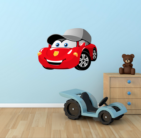 2D Cartoon Racing Car Wall Sticker WSD215