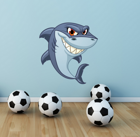 2D Cartoon Shark Wall Sticker WSD216