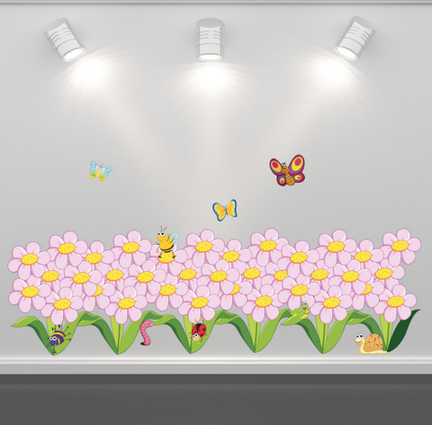 2D Flowers Butterfly Bugs Wall Sticker WSD222
