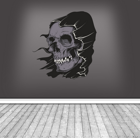 2D Halloween Hooded Skull Wall Sticker WSD224