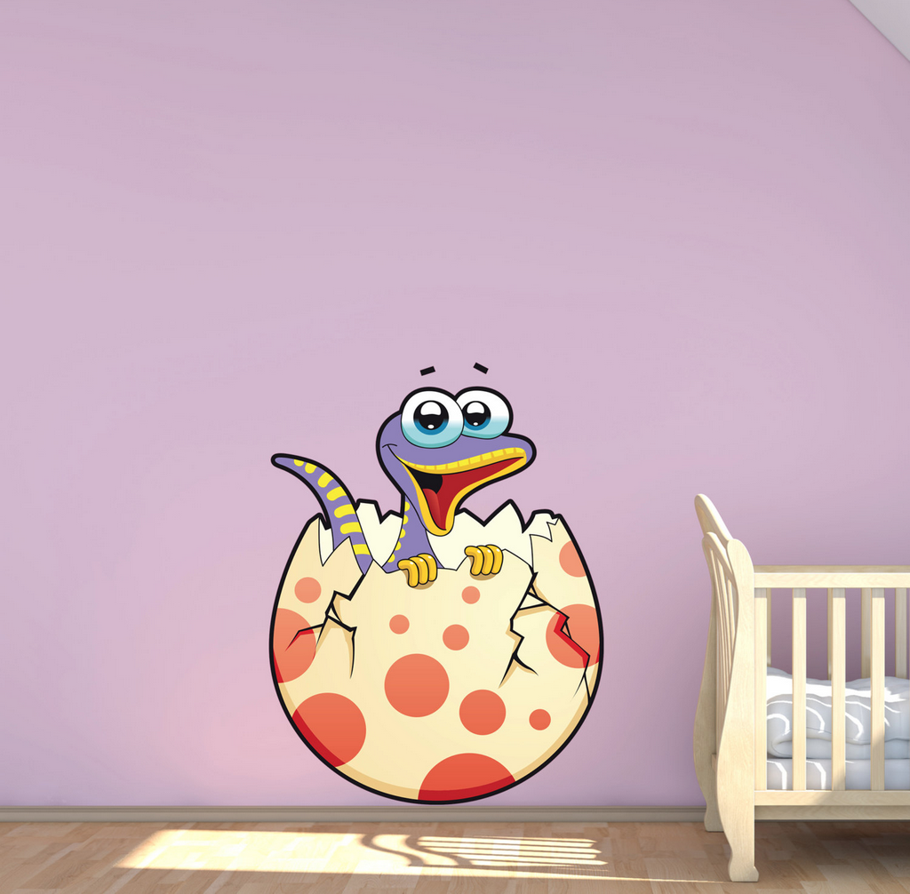 2D Cartoon Baby Dinosaur Wall Sticker WSD214