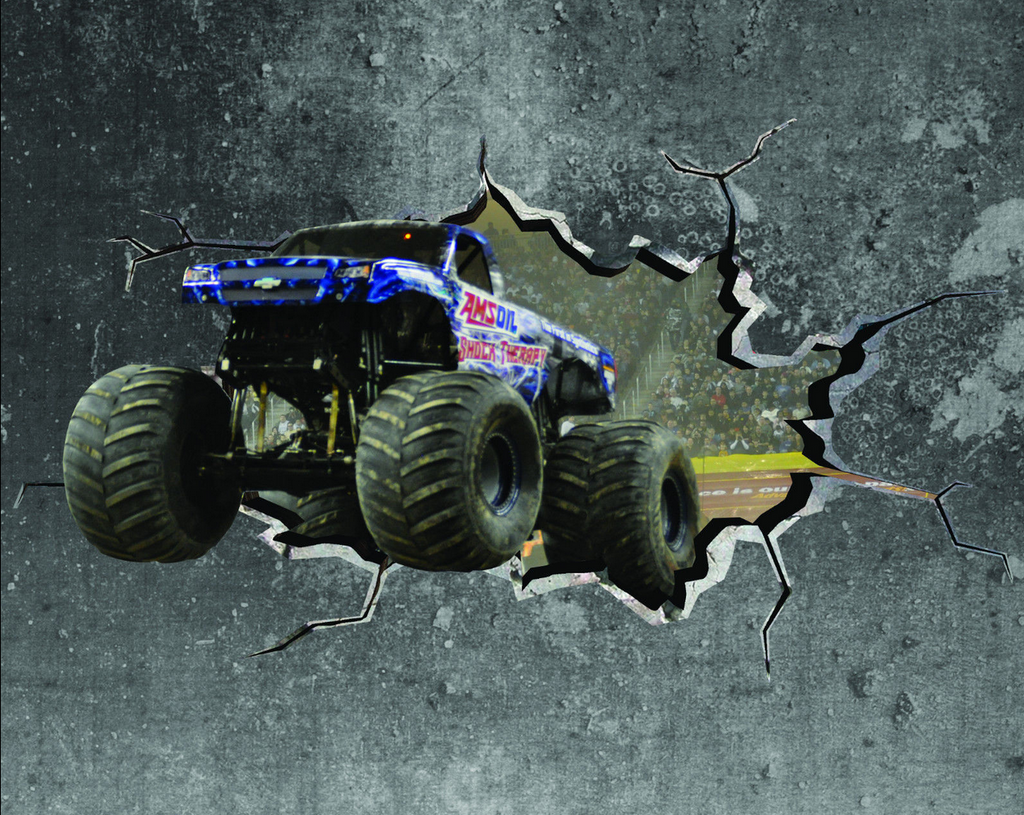 3D Monster Truck Wall Sticker WSD401