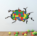 3D Full Colour Building Blocks Wall Sticker WSD52