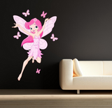 2D Pink Fairy Wall Sticker WSD226