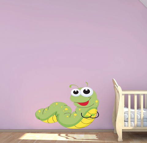 2D Baby Caterpillar Wall Sticker WSD188