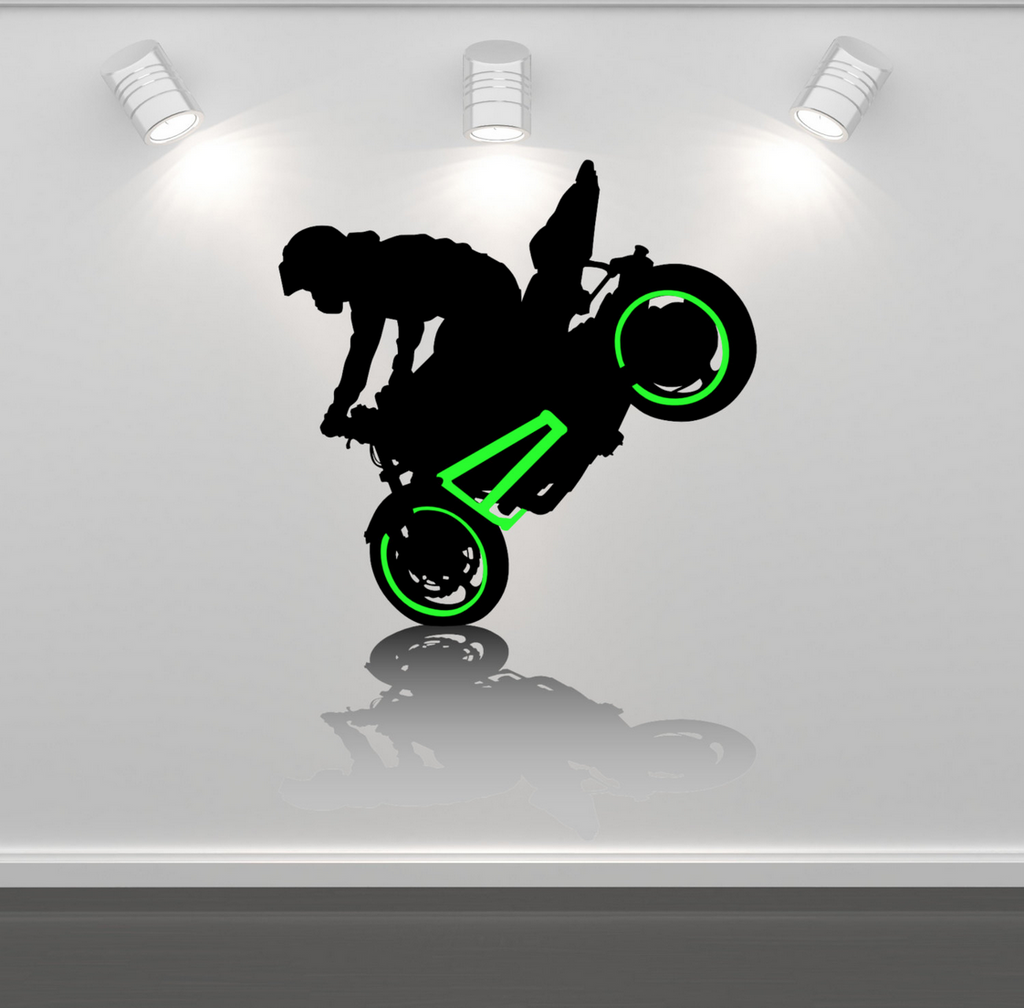 2D Superbike Racing Motorbike Wall Sticker WSD230