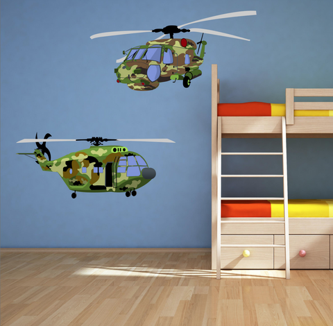 2D Army Helicopters Wall Sticker WSD10