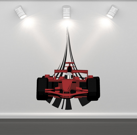 2D F1 Racing Car Wall Sticker WSD220