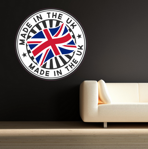 2D Made In The UK Wall Sticker WSD225