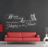 Heaven Home Family Love Wall Quote WSD437