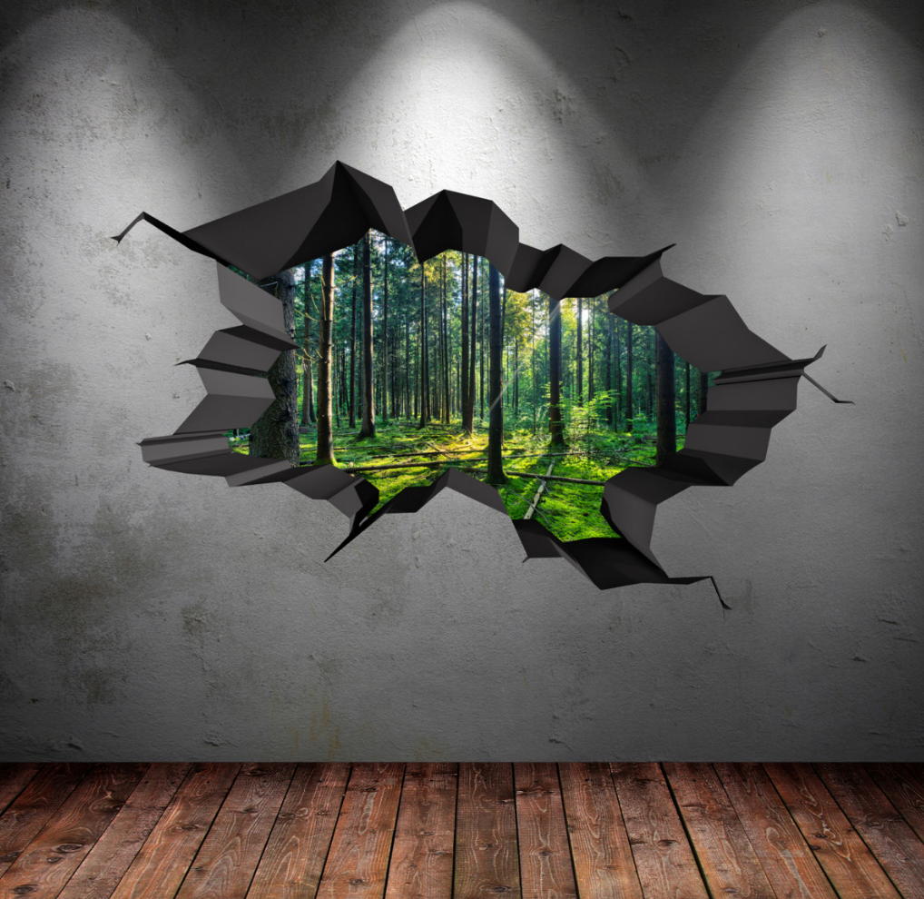 3D Woods Forest Wall Sticker WSD616