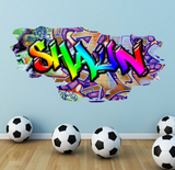 Full Colour Personalised Graffiti Wall Sticker WSD169