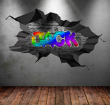 Full Colour Personalised Graffiti Wall Sticker WSD179