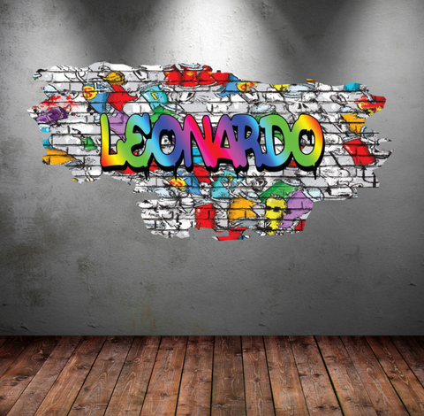 Full Colour Personalised Graffiti Wall Sticker WSD110