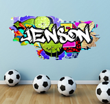 Full Colour Personalised Graffiti Wall Sticker WSD168