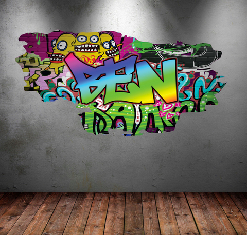Full Colour Personalised Graffiti Wall Sticker WSD114