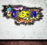 Full Colour Personalised Graffiti Wall Sticker WSD123