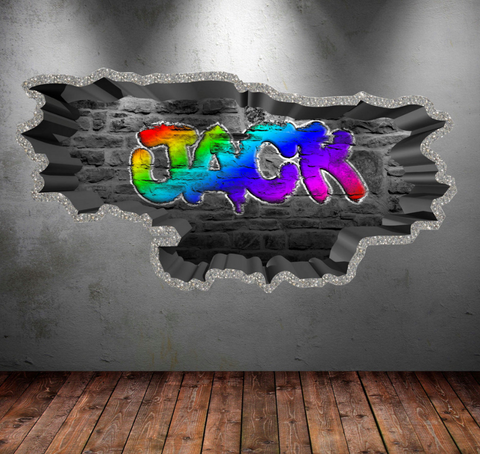 Full Colour Personalised Graffiti Wall Sticker WSD107