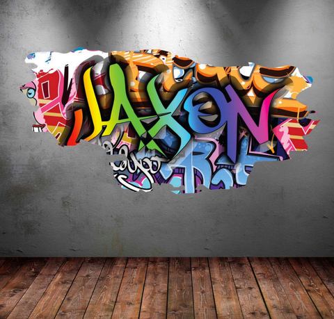 Full Colour Personalised Graffiti Wall Sticker WSD153