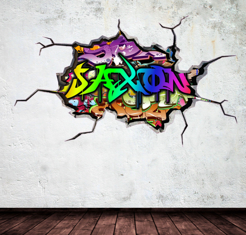 Full Colour Personalised Graffiti Wall Sticker WSD121