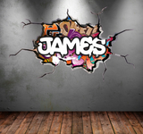 Full Colour Personalised Graffiti Wall Sticker WSD116