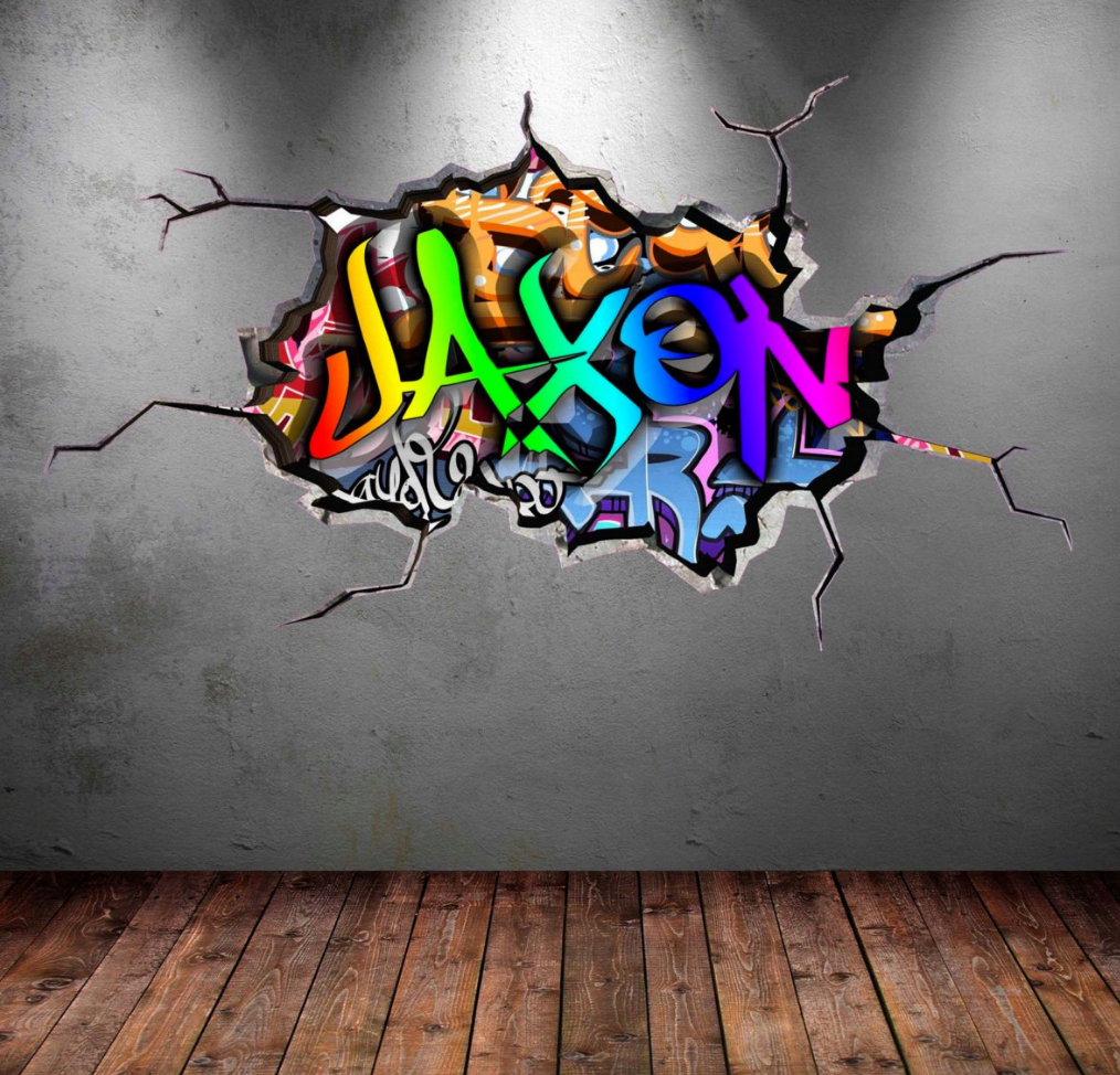 Full Colour Personalised Graffiti Wall Sticker WSD209