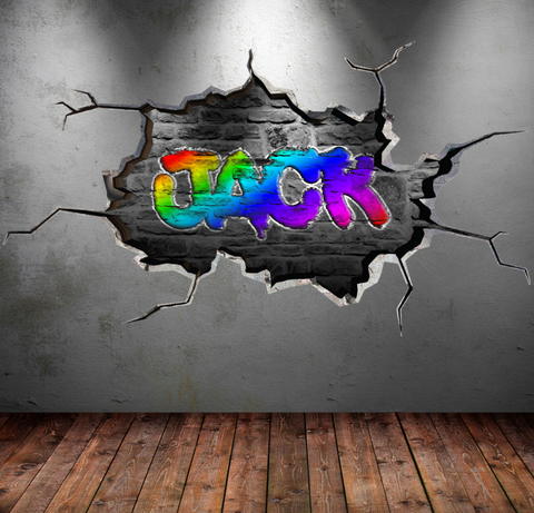 Full Colour Personalised Graffiti Wall Sticker WSD106