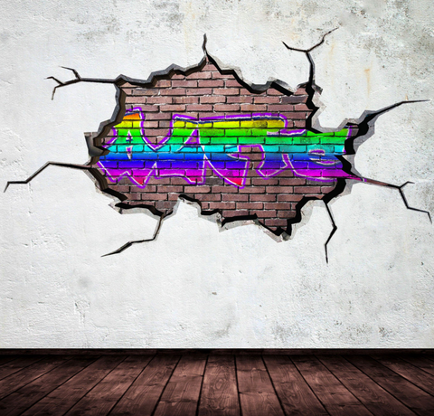 Full Colour Personalised Graffiti Wall Sticker WSD102