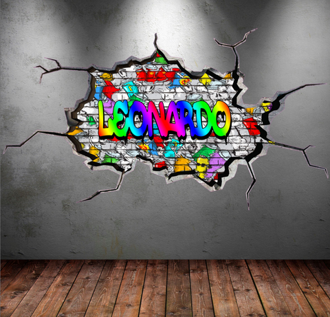 Full Colour Personalised Graffiti Wall Sticker WSD170