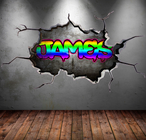 Full Colour Personalised Graffiti Wall Sticker WSD103