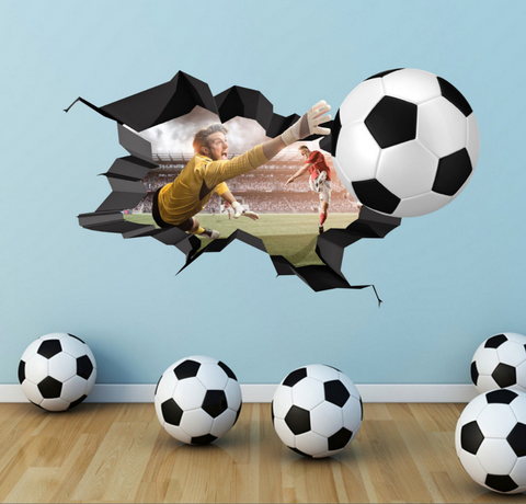 2D Football Wall Sticker WSD15