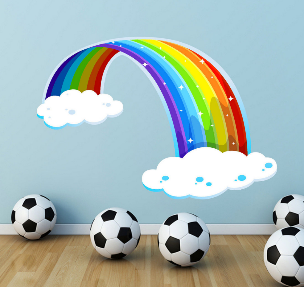 Rainbow Clouds Wall Sticker WSD60
