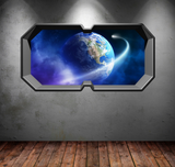 3D Space Planet Earth Wall Sticker WSD387