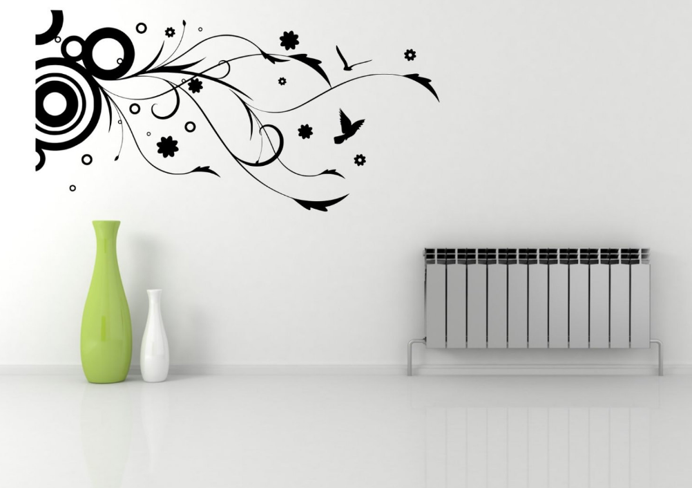 Floral Corner Wall Sticker WSD589