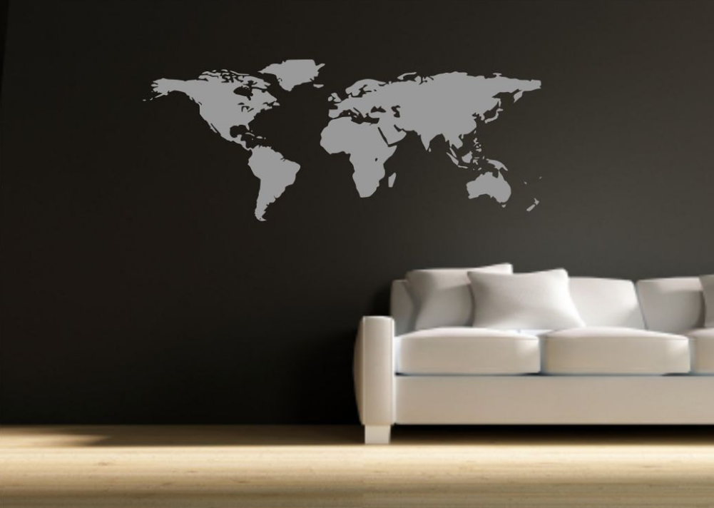 World map vinyl wall art sticker wsd590 peachy cards world map vinyl wall art sticker wsd590 publicscrutiny Images