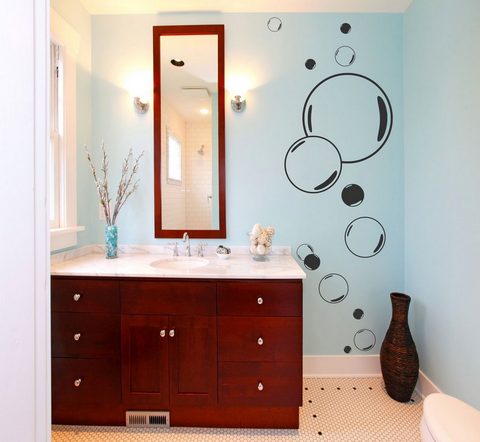 Big Bubbles Vinyl Wall Art Sticker WSD669