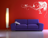 Corner Flower Butterfly Vine Vinyl Wall Art Sticker WSD672