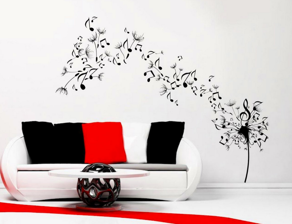 Dandelion Music Note Vinyl Wall Art Sticker WSD677