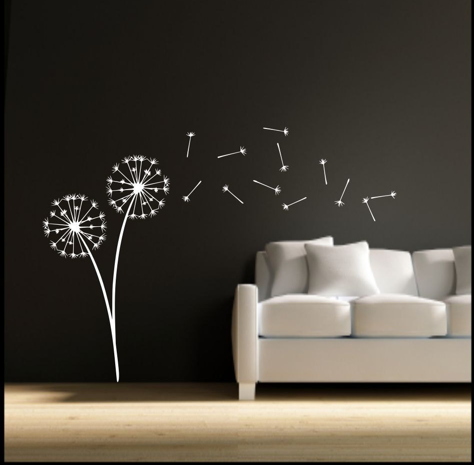 Dandelion Clock Seeds Vinyl Wall Art Sticker WSD678