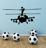 Apache Helicopter Plane Vinyl Wall Sticker WSD696