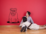 Bulldog Dog Animal Puppy English Bulldog Vinyl Wall Art Sticker WSD700