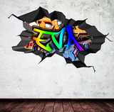 Full Colour Personalised Graffiti Wall Art Sticker WSD113