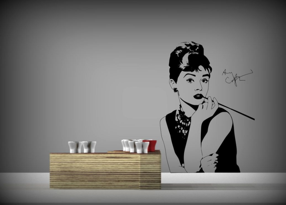 Audrey Hepburn Vinyl Wall Art Sticker WSD707