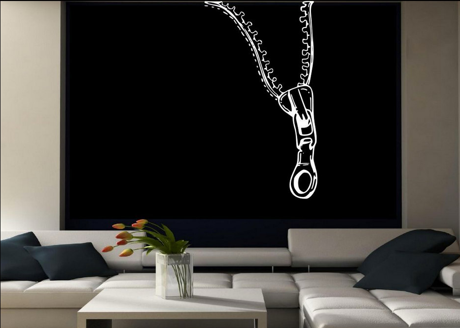 Zip Abstract Vinyl Wall Art Sticker WSD715