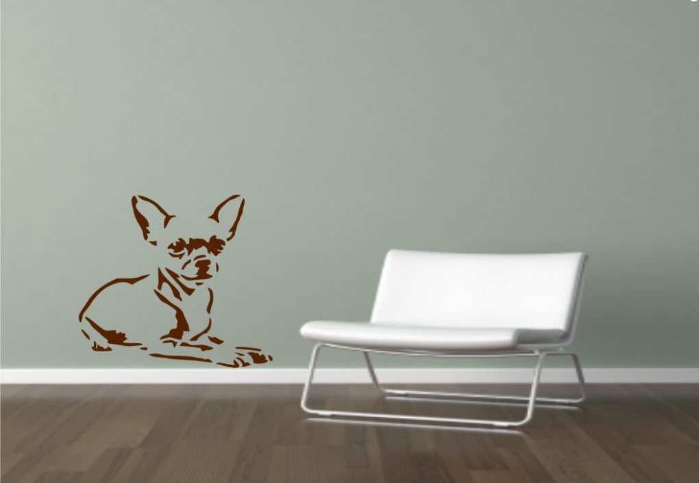 Chihuahua Dog Puppy Pet Vinyl Wall Art Sticker WSD718