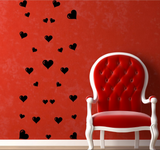 27 Love Hearts Vinyl Wall Art Sticker WSD724