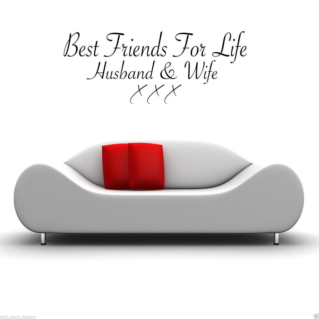 Best Friends Husband And Wife Wall Quote WSD450